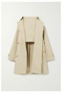 Burberry - Convertible Cotton-gabardine Skirt - Beige