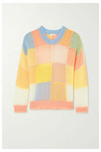 Stine Goya - Sana Color-block Open-knit Sweater - Pink