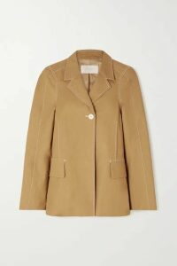 LOW CLASSIC - Topstitched Cotton Jacket - Neutral