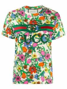 Gucci Pop Flora short-sleeved T-shirt - NEUTRALS