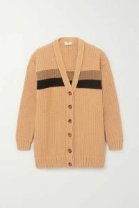 Fendi - Striped Cotton-blend Cardigan - Brown