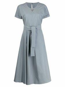Brunello Cucinelli tie-waist dress - Grey