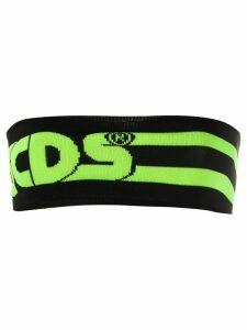 Gcds logo strapless top - Black