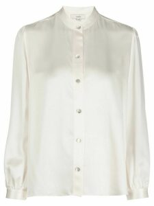 Vince silk mandarin collar shirt - NEUTRALS