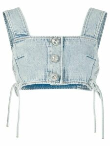 Alessandra Rich cropped denim top - Blue