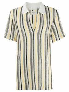 Bottega Veneta striped knitted polo shirt - NEUTRALS
