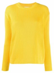 Chinti and Parker ribbed crew-neck jumper - Yellow