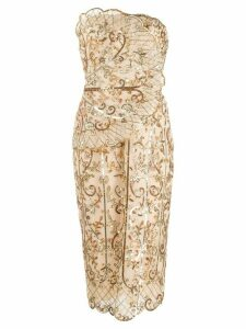 Zuhair Murad sequin-embellished strapless dress - GOLD
