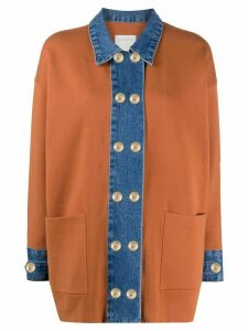 Sandro Paris two tone cardigan - Brown