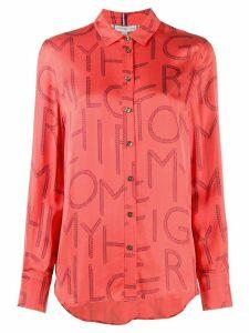 Tommy Hilfiger large letter blouse - PINK