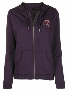 Diesel Only the Brave zip-through hooded sweatshirt - PURPLE