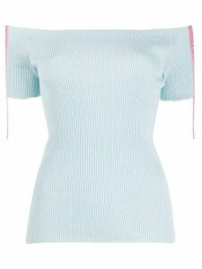 MRZ ribbed knitted top - Blue