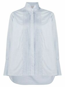 MRZ front pleated shirt - Blue