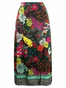 Alice+Olivia front slit skirt - Black