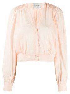 Forte Forte cropped v-neck blouse - PINK