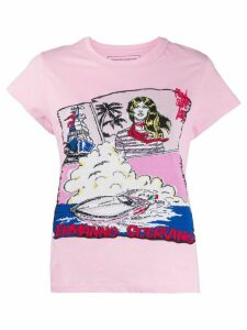 Ermanno Scervino knitted graphic T-shirt - PINK