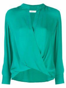 A.L.C. wrap front blouse - Green