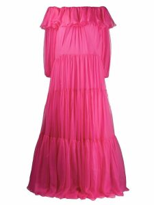 Valentino off-the-shoulder tiered dress - PINK