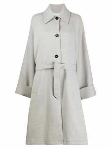 Mm6 Maison Margiela belted mid-length coat - Grey