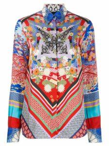 Pinko geometric print blouse - Blue