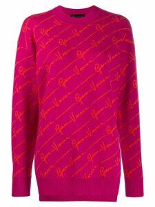 Versace logo motif jumper - PINK