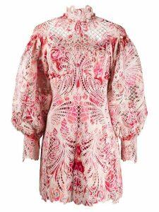Zimmermann Azalea Ikat embroidered dress - PINK