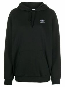 adidas logo embroidered hoodie - Black