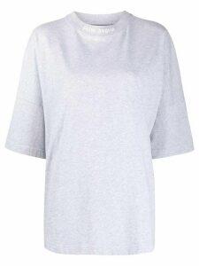 Palm Angels logo print T-shirt - Grey