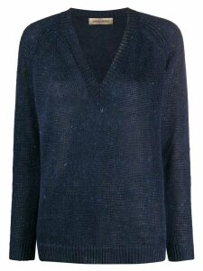 Gentry Portofino loose knit jumper - Blue