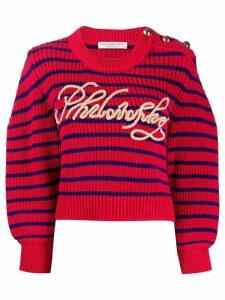 Philosophy Di Lorenzo Serafini striped logo jumper - Red