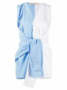 Marni tie front sleeveless blouse - Blue
