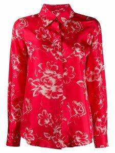 Alberto Biani silk floral pattern shirt - Red