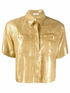 Sandro Paris Noy linen boxy fit shirt - Yellow