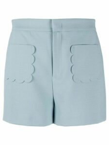 RedValentino scalloped pocket shorts - Blue