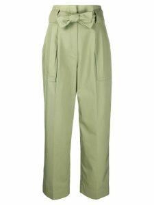 Sandro Paris Liane high waisted trousers - Green