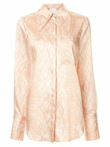 Acler Haslam long sleeve blouse - Brown