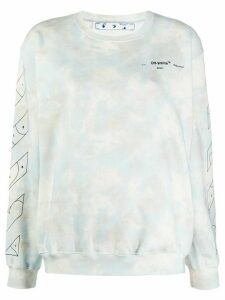 Off-White cloud print sweatshirt - Blue