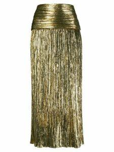 Saint Laurent metallic-effect pleated skirt - GOLD