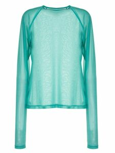 G.V.G.V. sheer long-sleeve top - Blue