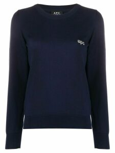 A.P.C. logo detail jumper - Blue