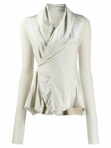 Rick Owens Lilies wrap-style blouse - GOLD