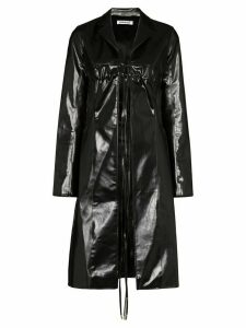 Supriya Lele tie front trench coat - Black