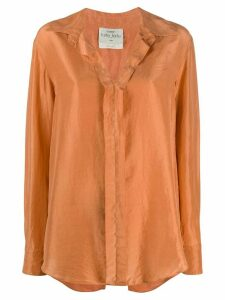 Forte Forte long sleeve habotai shirt - ORANGE