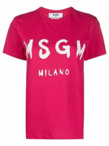 MSGM logo-print T-shirt - PINK