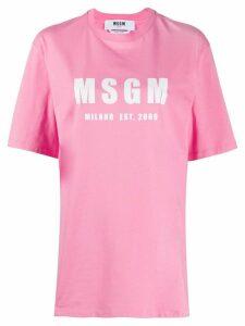 MSGM logo print T-shirt - PINK