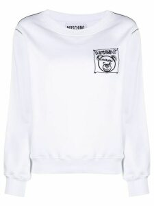 Moschino Teddy Label Cornely crewneck sweatshirt - White