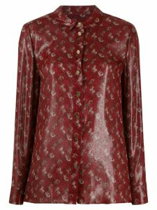 Coach Lunar New Year Horse print blouse - Red