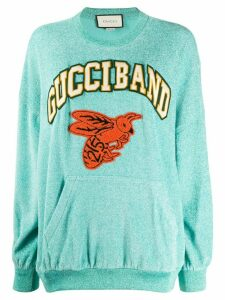 Gucci logo detail sweatshirt - Blue