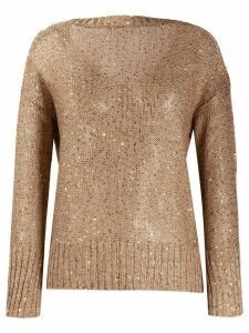Snobby Sheep sequin embroidered sweater - Brown
