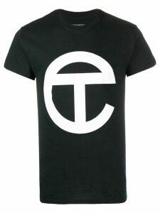 Telfar longline logo print T-shirt - Black